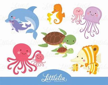 Clipart Animal Mom Sea Clip Animals Sold