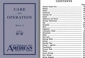 American 1921 - Care And Operation Model C