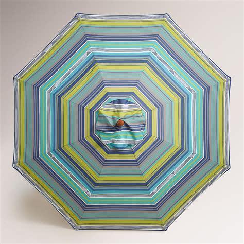 cote blue striped 9 umbrella canopy world market