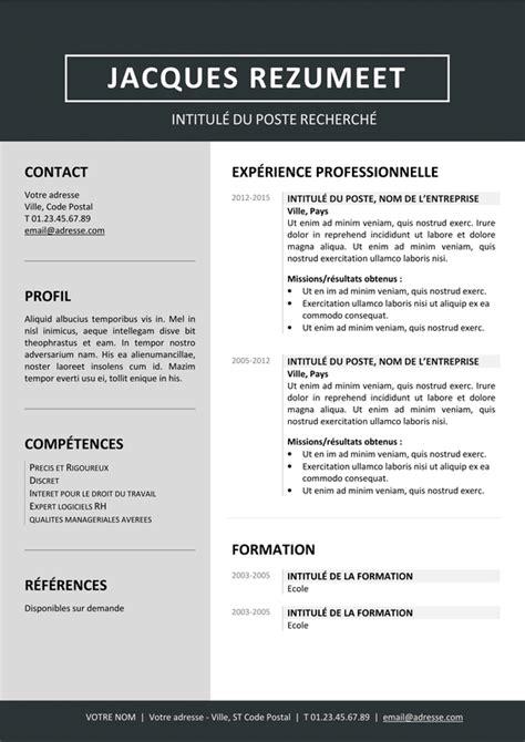 Modèle De Curriculum Vitae Professionnel by Jordaan Mod 232 Le Gratuit De Curriculum Vitae Moderne