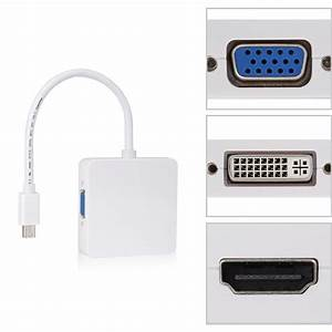 New 3 In1 Thunderbolt Mini Displayport Dp To Hdmi Dvi Vga