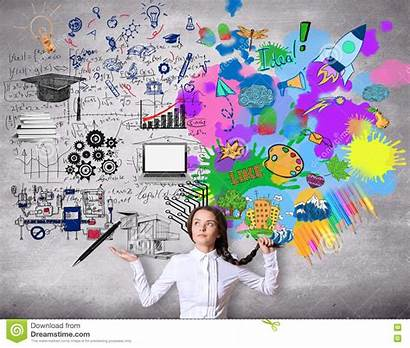 Creative Analytical Thinking Concept Background Concrete Confused
