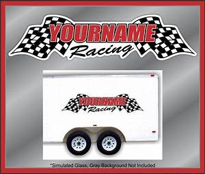 custom your name racing decals trailer graphics kit stock With custom truck lettering decals