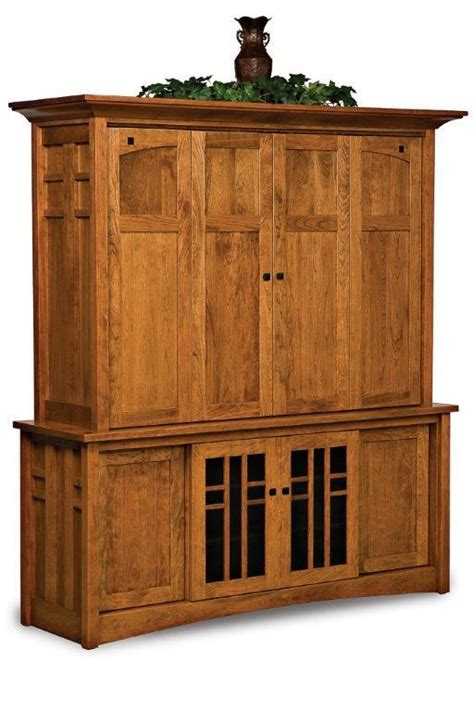 tv hutch with doors amish kascade entertainment center