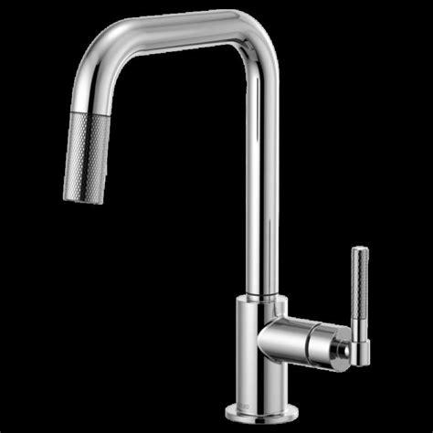 brizo litze single hole kitchen faucet  square spout