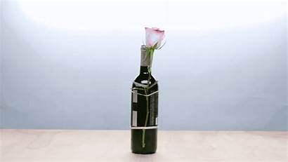 Bottle Wine Without Gift Huge Flowers Wrap