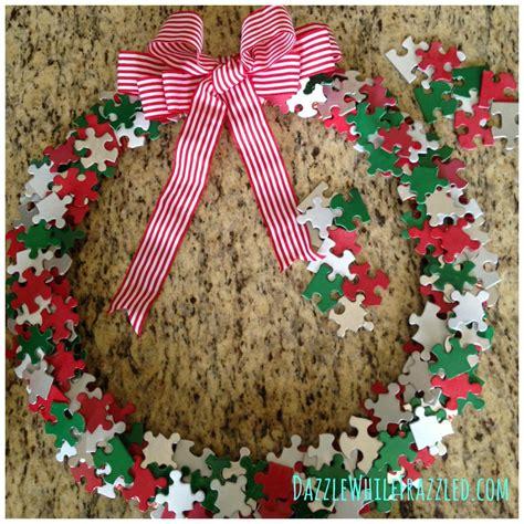 puzzle piece diy wreath favecraftscom