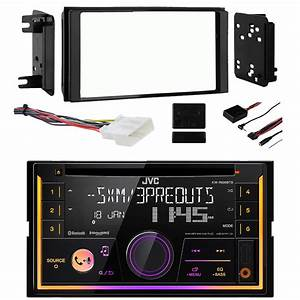 Double Din Cd Bluetooth Siriusxm Ready Variable Color Usb Aux Radio Receiver  Dash Kit  Wiring