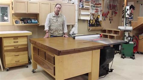 sawstop  feed table part  youtube