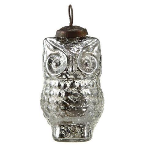 mercury glass owl ornament christmas pinterest