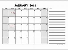 2018 Free Calendar PDF Free Printable Templates