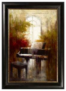 Piano framed canvas wall art traditional artwork for Kitchen cabinets lowes with piano canvas wall art
