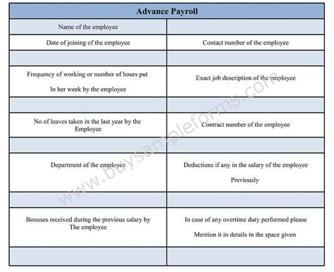 salary advance  payroll deduction form  word