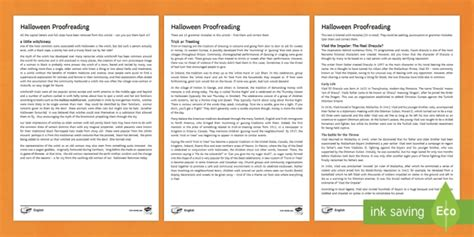 * New * Halloween Proofreading Activity Pack  Vlad The Impaler