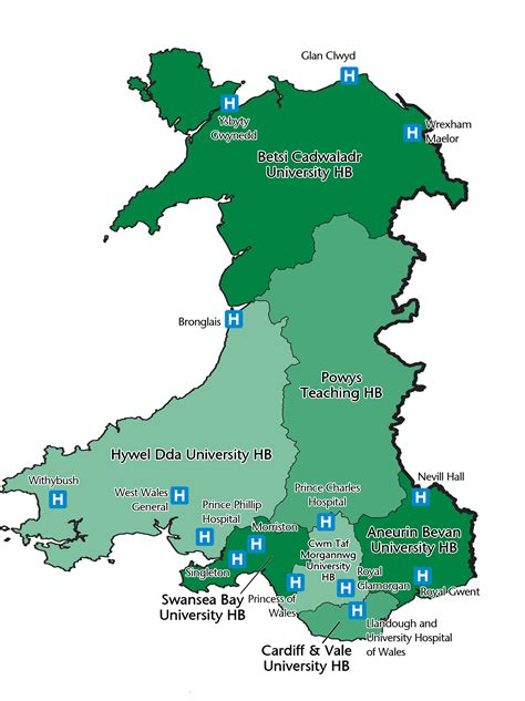 wales locations map wales deanery