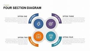 4 Section Diagram Powerpoint Template  U0026 Keynote