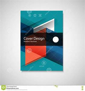 Abstract Business Flyer Design Vector Template In A4 Size ...