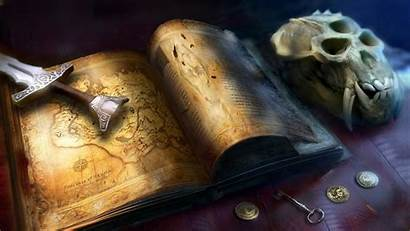 Skyrim Fantasy Scrolls Map Sword Elder Skull