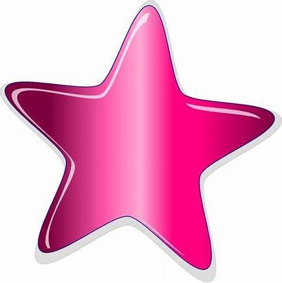 Star Funky Clipart Clip Pink Peach Clker
