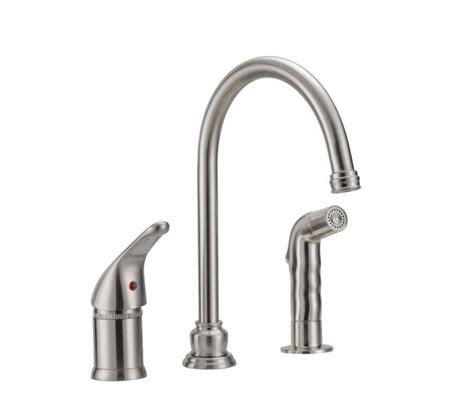 single handle rv kitchen faucet  side spray nozzle