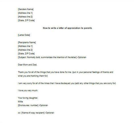 letter  parents   sample
