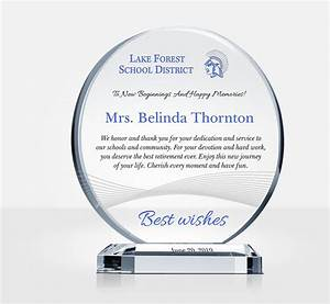 How To Thank A Boss For A Gift Educator Retirement Gift Plaque Sample Wording Ideas