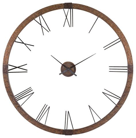 Uttermost Wall Clocks by Uttermost Amarion Clock Hammered Copper Sheeting