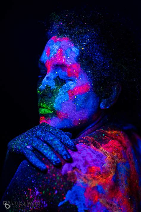 black light  uv paint body painting photoshoot