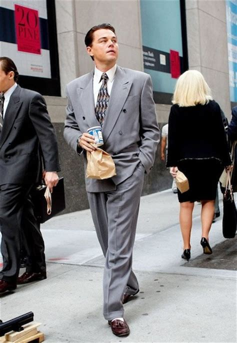 wolf  wall street invest   stand  power suit