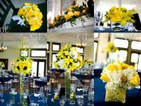 navy and yellow wedding decorations yellow wedding flowers wedding ideas