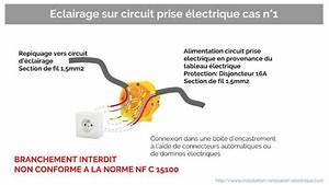 Radiateur Electrique Sur Circuit Prise : brancher un clairage sur un circuit de prise lectrique ~ Carolinahurricanesstore.com Idées de Décoration