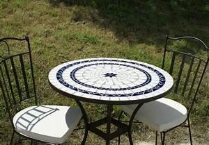 Table Mosaique Jardin. table de jardin mosaique en pierre 4 ou 6 ...