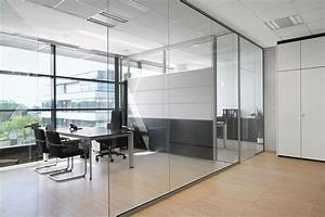 Glass office partition rg glass wall by bene design for Office glass wall