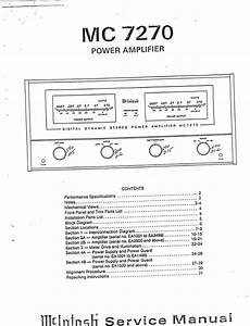 Mcintosh Mc-7270   Original Service Manual
