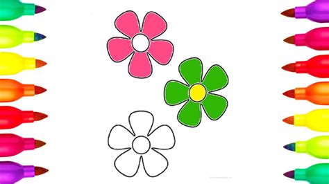 pictures of flowers to color colours for how to draw and colour flowers