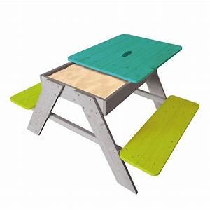 Table Enfant Avec Rangement : table 4 places avec plateau amovible et bac sable qui peut galement servir de rangement ~ Melissatoandfro.com Idées de Décoration