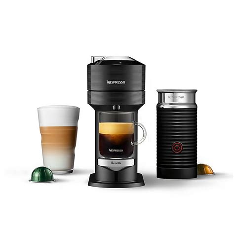 Fully automatic machine uses a revolutionary new brewing technology for traditional italian espresso beverages and classic american coffee. Nespresso® Vertuo Next Premium Coffee & Espresso Maker by Breville w/ Aeroccino Milk Frother ...