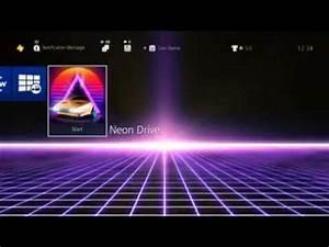 Neon Drive PS4 Theme