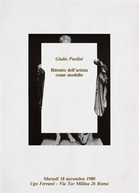 Libreria Paolini by Giulio Paolini Ritratto Dell Artista Come Modello 1980