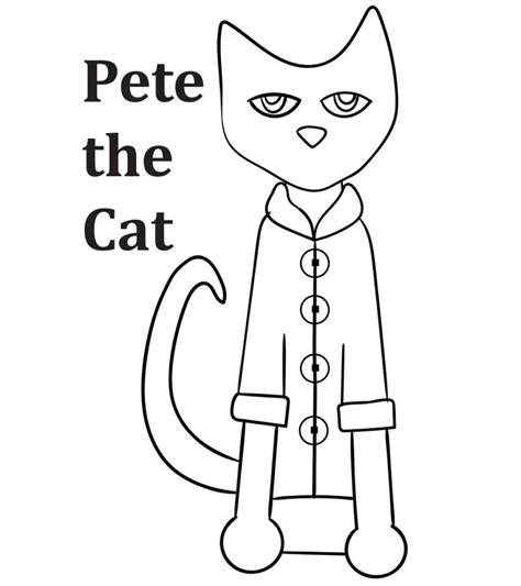 top   printable pete  cat coloring pages