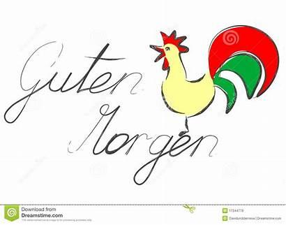 Morgen Guten Morning German Afbeeldingen Words Rooster