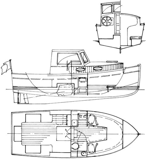 Catamaran Technical Drawing by Inboard Engine Boat Plans Antiqu Boat Plan