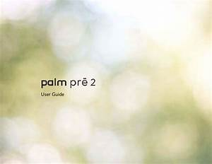 Palm Pre User Guide
