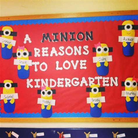 end of the school year activities this would make a great 818 | c2284912dce1a38fbdd239859c65a3d8 minion bulletin board kindergarten bulletin boards
