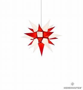 Herrnhuter Stern Beleuchtung : herrnhuter stern i4 weiss rot papier 40cm von herrnhuter ~ Michelbontemps.com Haus und Dekorationen