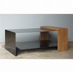 Table En Acier : table basse acier bois ~ Teatrodelosmanantiales.com Idées de Décoration