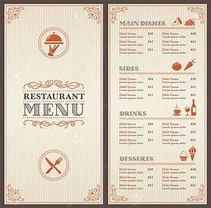 Old Fashioned Diner Menu Template Motif - Documentation ...
