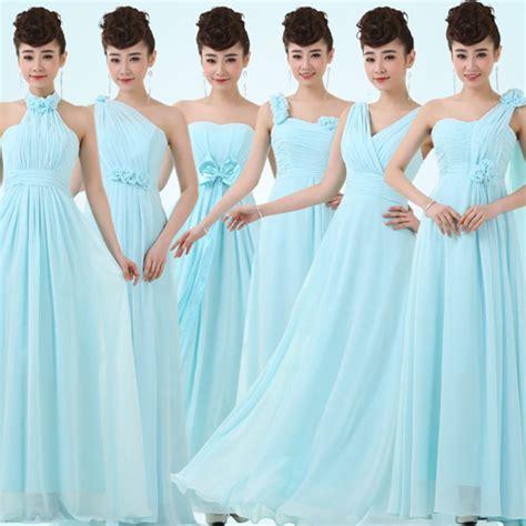 dress aqua biru robe de demoiselle d 39 honneur pastel pour mariage en