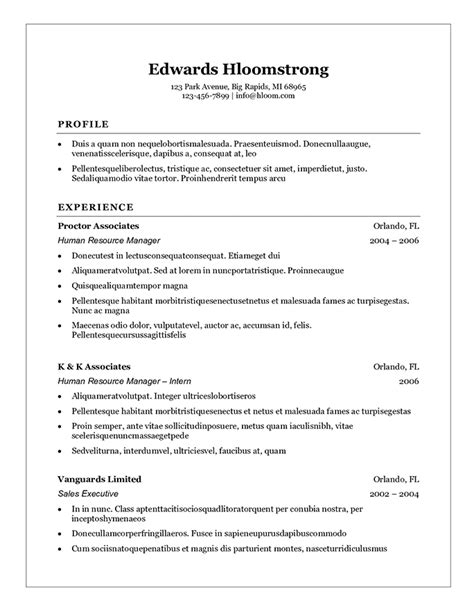 Student Resume Format by Student Resume Templates That Gets Results Hloom