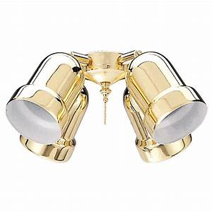 Harbor breeze light bright brass ceiling fan